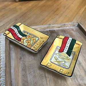 Clay Art Handpainted Penne & Farfalle Dishes
